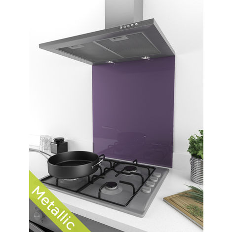 ART1105 60cm x 75cm Deluxe Dusted Damson Coloured Glass Splashback
