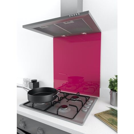 ART1107 60cm x 75cm Designer Berry Smoothie Coloured Glass Splashback