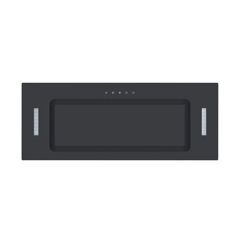 ART11320 75CM BLACK GLASS CANOPY COOKER HOOD