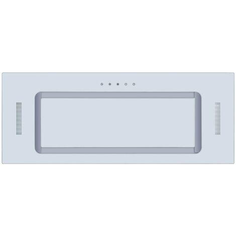 ART11341 75CM WHITE GLASS CANOPY COOKER HOOD