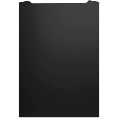 ART1166 60CM CURVED BLACK PAINTED S.STEEL SPLASHBACK