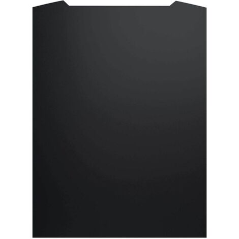 ART1168 70CM CURVED BLACK PAINTED S.STEEL SPLASHBACK