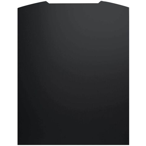 ART1170 90CM CURVED BLACK PAINTED S.STEEL SPLASHBACK