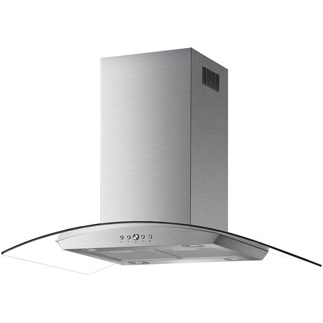 ART28103 90CM STAINLESS STEEL ISLAND HOOD