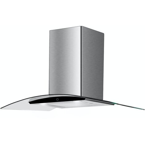 ART28216 90CM CURVED GLASS COOKER HOOD