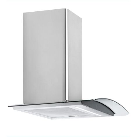 ART28217 60CM CURVED GLASS COOKER HOOD WITH RF