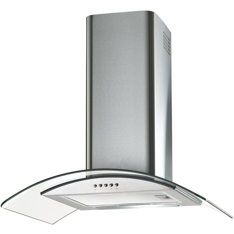 ART28310 60CM HOOD CURVED GLASS WITH LED LIGHTS