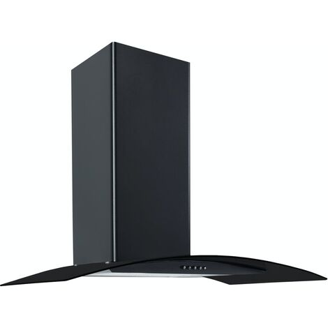 ART28371 70CM BLACK CURVED GLASS COOKER HOOD