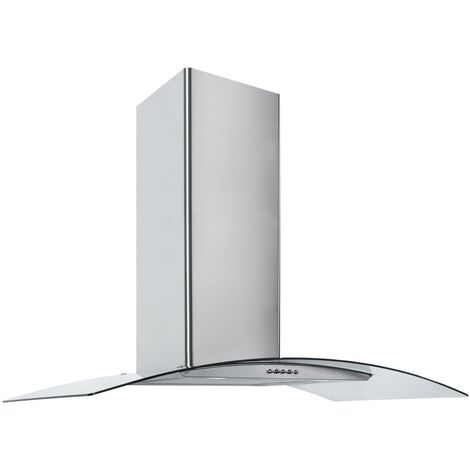 ART28373 90CM STAINLESS STEEL CURVED GLASS COOKER HOOD
