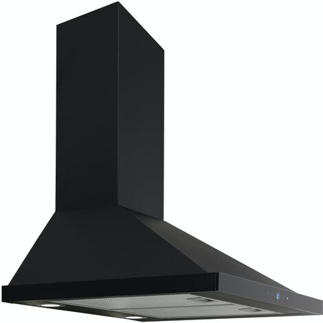 ART28378 60CM NERO CHIMNEY COOKER HOOD