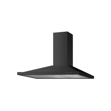 ART28390 100CM BLACK CHIMNEY HOOD