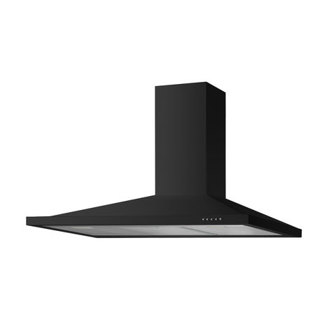 ART28392 110CM BLACK CHIMNEY HOOD