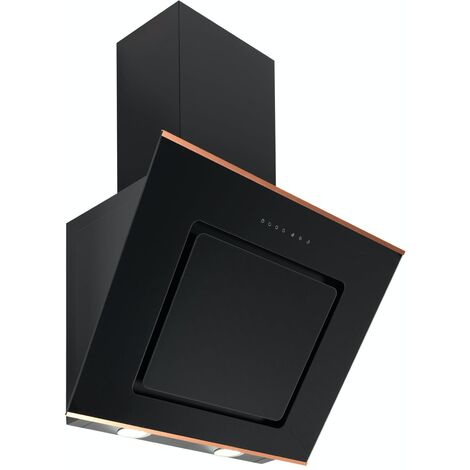 ART28398 60cm Copper and Glass Angled Glass Cooker Hood