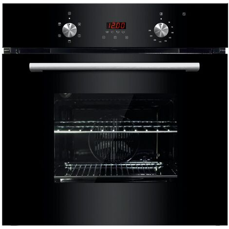 ART28735 60cm Built-in Single Black True Fan Electric Oven Eco Clean