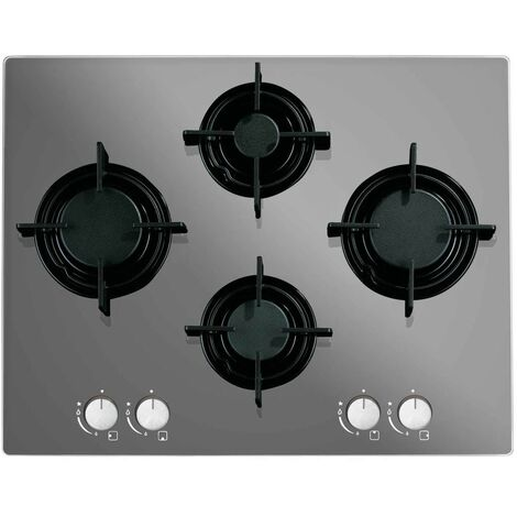 ART28949 60CM MIRROR GAS ON GLASS HOB