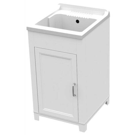 Art.9231 Fregadero resina y pvc 45x50cm mueble blanco para interior o exterior
