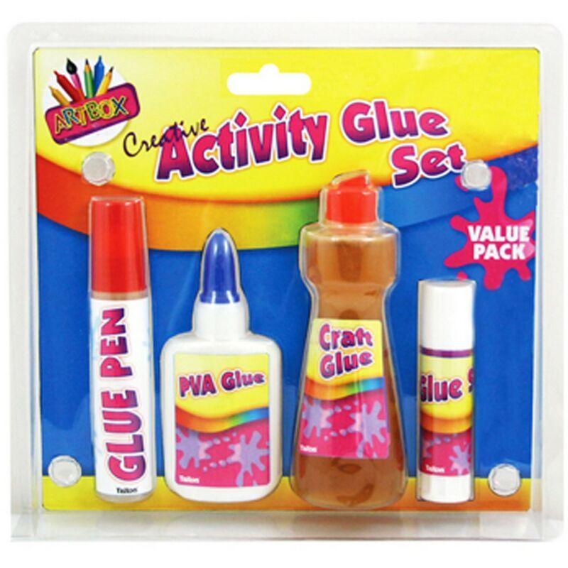 Image of 4 Piece Glue Set (One Size) (Multicoloured) - Artbox