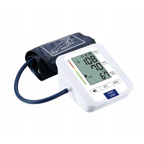 Arterial Pressure Monitor Model English Smart Electronic Sphgmomanometer White Upper Arm Voice Model