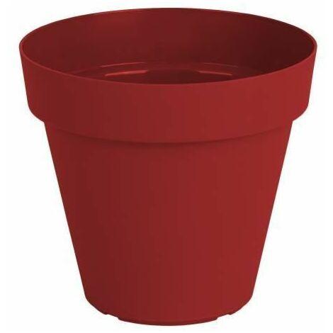 ARTEVASI Pot de fleurs Capri - 40 cm - Rouge foncé