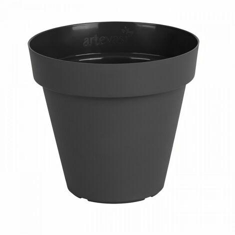 ARTEVASI Pot de fleurs Capri - 50 cm - Gris anthracite
