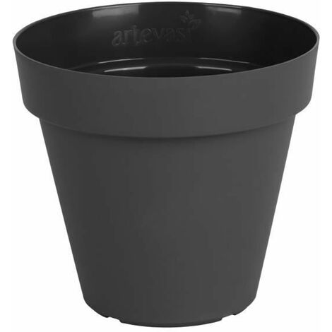 ARTEVASI Pot de fleurs Capri - 60 cm - Gris anthracite