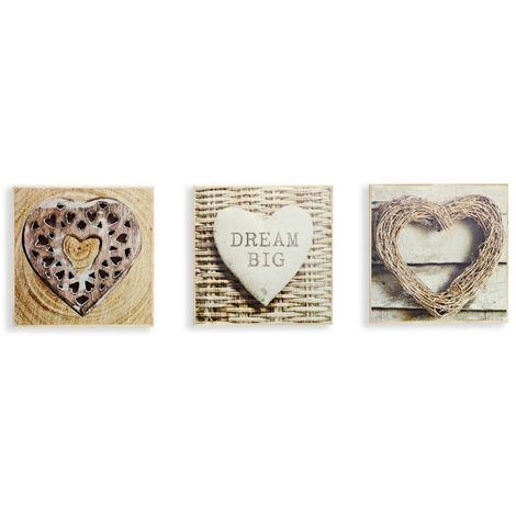 Arthouse Box Frames Rustic Hearts Set Of 3 004430