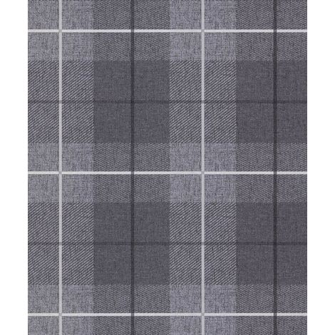 Arthouse Country Tartan Charcoal Wallpaper