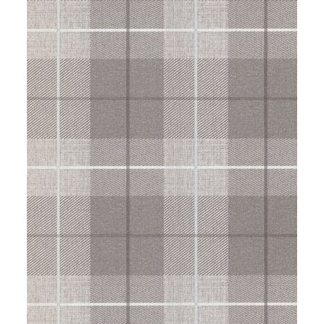 Arthouse Country Tartan Taupe Wallpaper