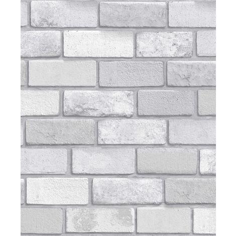 Arthouse Diamond Brick Vinyl Wallpaper