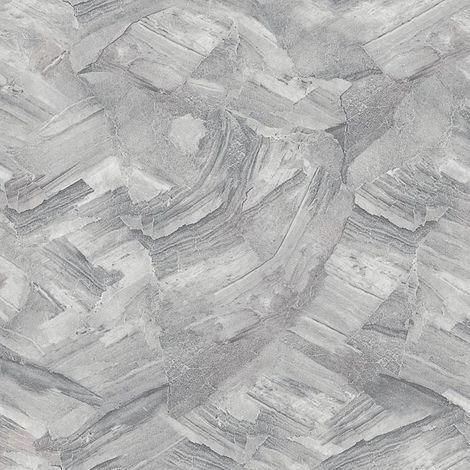 Arthouse Diamond Cut Stone Grey Wallpaper