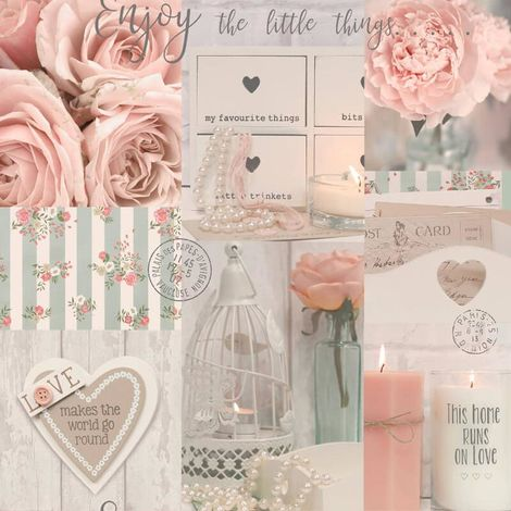 Arthouse Diamond Rose Blush Glitter Wallpaper