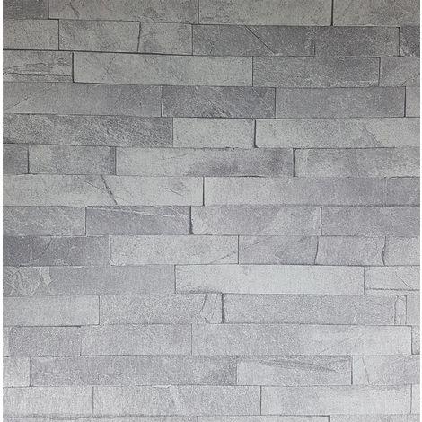 Arthouse Diamond Slate Dove Grey Wallpaper