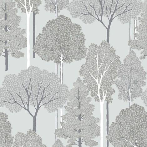 Arthouse Ellwood Silver Wallpaper