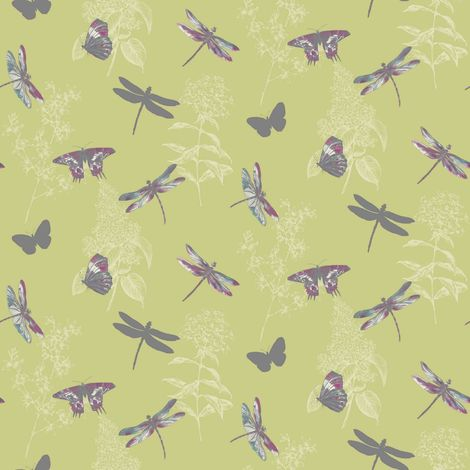 Arthouse Enchantment Wallpaper Enchanted Wings Citrus 664900