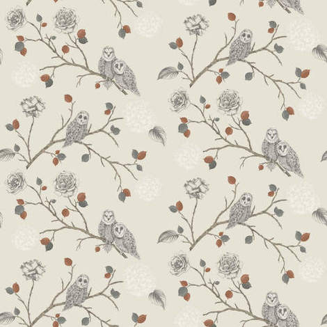 Arthouse Enchantment Wallpaper Night Owl Copper 665000