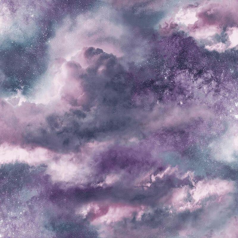 Arthouse Diamond Galaxy Purple Glitter Wallpaper Wl 260007