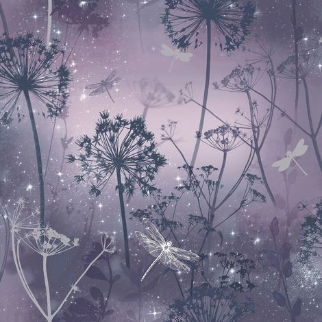 Arthouse Fantasia Wallpaper With Encased Glitter Damselfly