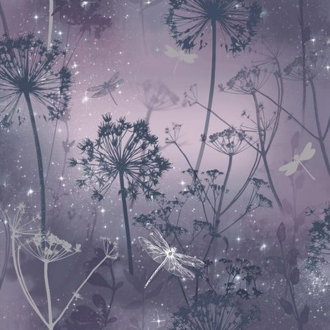 Arthouse Fantasia Wallpaper With Encased Glitter Damselfly