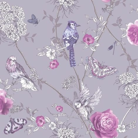 Arthouse Fantasia Wallpaper With Encased Glitter Paradise Garden