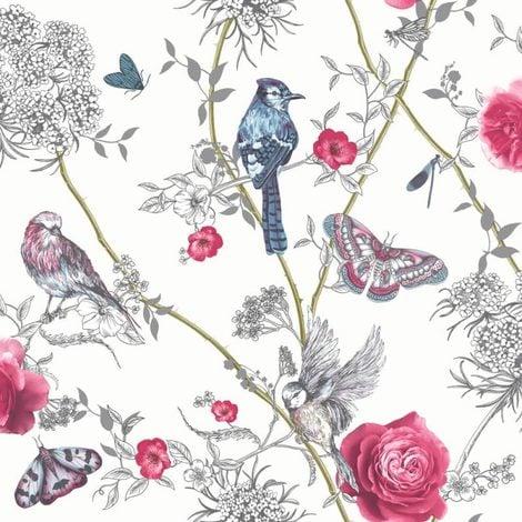Arthouse Fantasia Wallpaper With Encased Glitter Paradise Garden