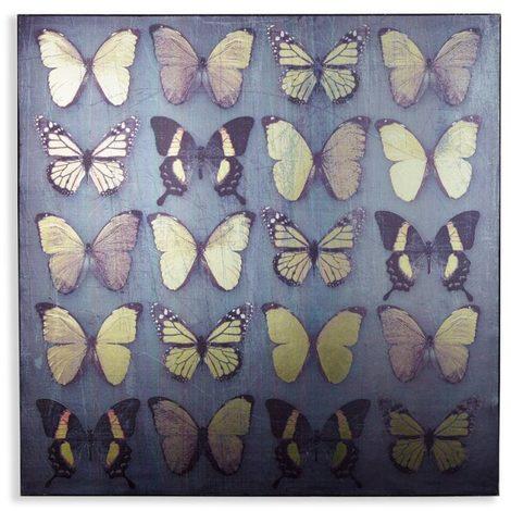 Arthouse Foil Canvas Black Butterflies 004311