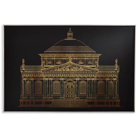 Arthouse Framed Canvas Gold Architectural 004317