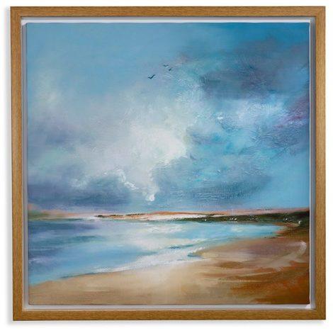 Arthouse Framed Canvas Painted Seascape 004334