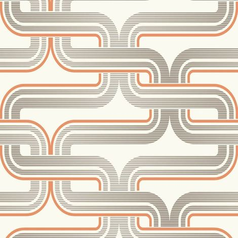 Arthouse Geometric Wallpaper Retro Orange Grey Luxury Quality Pattern Spongeable