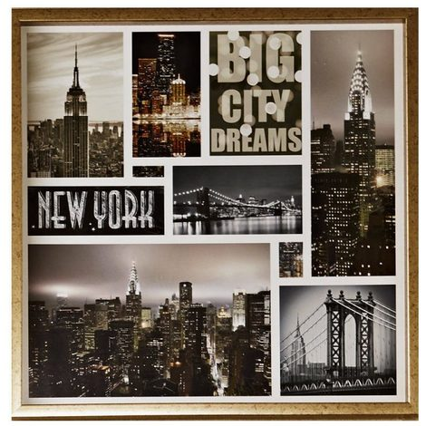 Arthouse Glassless Framed Print Big City Dream Montage 004318