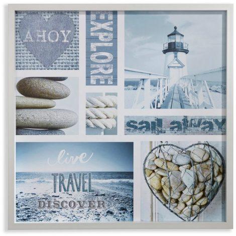 Arthouse Glassless Framed Print Denim Nautical 004330