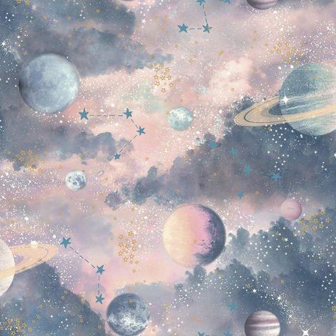 Arthouse Glitter Planets Wallpaper