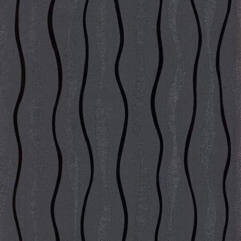Arthouse Glitz Black 887000 Wallpaper, 53cm x 1005cm, Full Roll