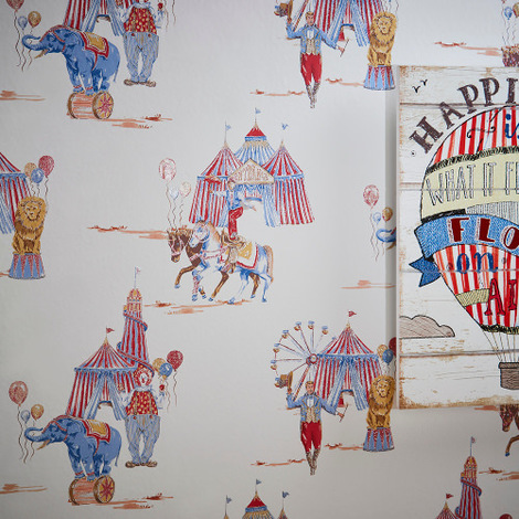 Arthouse Imagine Fun Wallpaper Circus Fun Red/Blue 696001