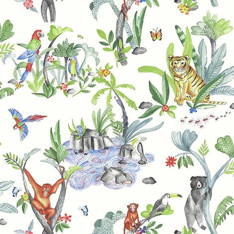 Arthouse Imagine Fun Wallpaper Jungle Mania Multi 696008